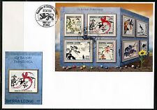 SIERRA LEONE 2016 QI BAISHI PAINTINGS  SHEET FIRST DAY COVER