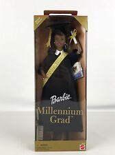 2000 Barbie Millennium Grad African American Doll Black Hair Cap Gown 1999 New
