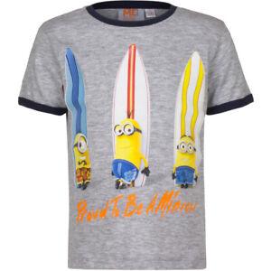 Minions Kinder T-Shirt Kurzarm Proud To Be A Minion Grau DESPICABLE ME  98 - 128