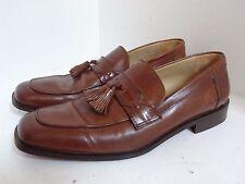 Sz 8.5 W Johnston & Murphy Stratton Tassel Brown Leather Calfskin Loafer 15 7066