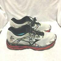 Mizuno Wave Inspire 10 Running Shoes White Black Size 8.5 Men's