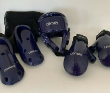 Century Karate Protective Gear Kids Complete Youth Set Blue/Purple With Mesh Bag