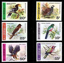 LIBERIA   SCOTT# 777-782  MNH  BIRDS