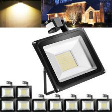 New listing 10X 100W Pir Motion Sensor Led Flood Light Warm White Outdoor Security Yard Lamp