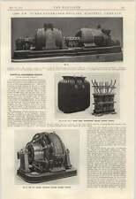 1924 Cepillo eléctrico inglés compañía generadores de Transformers GEAR