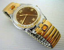 REVE D'AUTOMNE! Swatch w Gold Metal FLEX BAND, Copper Colored Stones! New-RARE!
