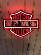 "HARLEY-DAVIDSON HD BIKE NASCAR POSTER NEON LIGHT SIGN 9""x8"" FOR HARLEY STORE"