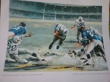 4 National Beer Football Prints 1958 Colts Four Horsemen Notre Dame NOS RARE