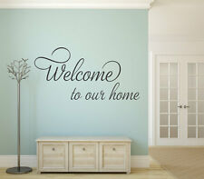 WELCOME TO OUR HOME Vinyl Wall Decal Quote Sticker Decor Words Lettering Sign