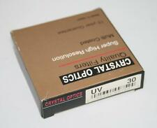 30mm Filter UV Filter Crystal Optics Multi Coated New for camera and video