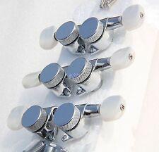 Wilkinson JIN HO Tuners 3x3 Guitar Locking Tuners w/Pearl Botton Fit Gibson LP