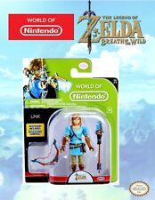 """World of Nintendo Series 2-6 LINK Legend of Zelda Breath of the Wild 4"""" Figure"""