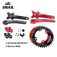 MTB Bike 170mm Crank 104bcd 32T-42T  Narrow Wide  Chainring 4 Pieces Round Bolts
