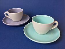 Set of 2 Whittard of Chelsea Espresso Cup & Saucer Lilac & Blue