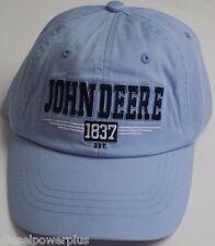 John Deere Blue hat Base ball cap Trucker logo decal deer dear jon headwear NEW