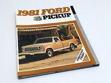 1981 Ford F-100 F-150 F-250 F-350 Ranger Lariat Pickup Brochure