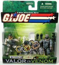 GI Joe Valor Vs Venom Frostbite And Snow Wolf 2004 Rare