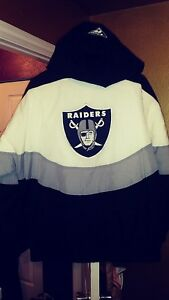 Apex Los Angeles Raiders Throwback Starter Jacket Large New! NFL