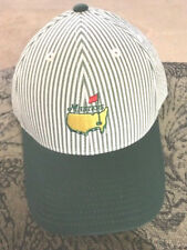 WOW 2018 MASTERS LOGO GREEN AND WHITE STRIPED LOGO GOLF HAT BRAND NEW NWT