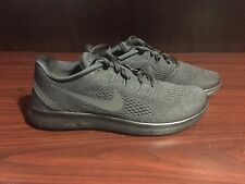 MENS NIKE FREE RN RUNNING SHOES TRIPLE BLACK SIZE 8  831508-002