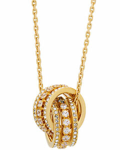 Swarovski Further 5498997 Gold-Tone Clear-Colored Crystal Necklace