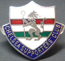 Chelsea FC Insignia del club de seguidores Vintage Broche Pin En Cromo 33mm X 30mm