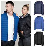 Kariban Unisex Lightweight Hooded Padded Quilted Jacket Black Blue Navy S M L XL