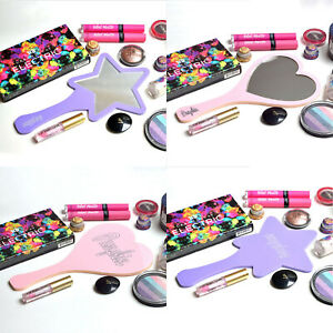 Customised hand mirror with two custom engravings and choise of colour