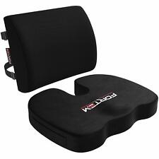 FORTEM Seat Cushion & Lumbar Support for Office Chair Car Wheelchair Memory F...