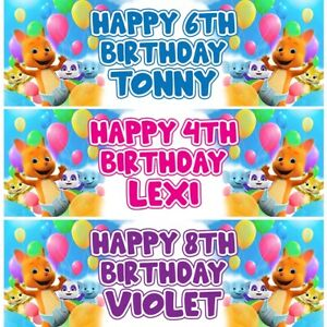 2 Personalised Word Party Birthday Celebration Banners Decoration Posters