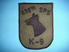 VIETNAM WAR SUBDUED PATCH, US 635th SECURITY POLICE SQUADRON  K-9