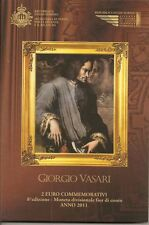 "2 Euro Gedenkmünze 2011, San Marino, ""Vasari"", im Original-Folder"