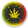 2 x Cannabis Vinyl Sticker Decal iPad Laptop Medical Use Weed Marijuana #5861