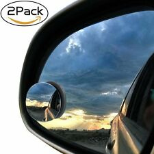 "2Pcs 2"" Round Stick On Rear-view Blind Spot Convex Wide Angle Mirrors Car Motor"