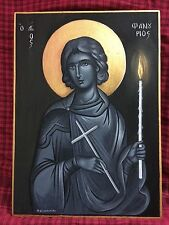 Saint Phanourios Hand Painted Greek Orthodox Christian Byzantine Icon 10
