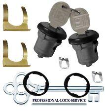 Chevy Nova Corvair 67-79 Door Lock Key Cylinder Pair Tumbler Barrel 2 Keys Black