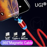 360°1M Magnetic Adapter 2.4A Micro USB Type-C Fast Charger Cable For iPhone 8 7