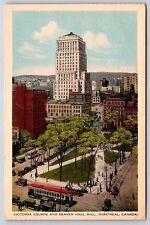 Victoria Square and beaver Hall Hill Montreal, Canada White Border Postcard New