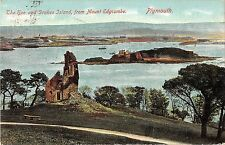 BR96891 plymouth the hoe and drakes island from mount edgcumbe  uk
