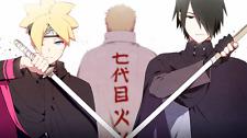 Boruto Uzumaki Naruto Sasuke Uchiha Silk Poster/Wallpaper 24 X 13 inches