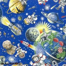 NUTEX PATCHWORK FABRIC - SPACE ODYSSEY - ASTRONAUTS - 89050