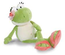 Nici 41663 Froschmädchen mit Blüte und Schlappen 25cm Plüsch Kuscheltier