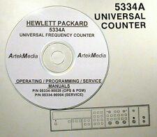 HP  5334A SERVICE, OPERATING AND PROGRAMING MANUALS (2)
