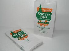 25 VINTAGE KNOTTY PINE RESTAURANT HAZLETON PA TAKE OUT FOOD PAPER BAGS