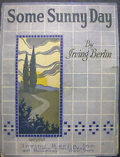 1922 Sheet Music Chas. N. Grant Some Sunny Day Irving Berlin, Greenville, O