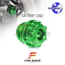 Green CNC Oil Filler Cap 1pc For Kawasaki ZX-10R Ninja 04-16 07 08 09 10 11 12