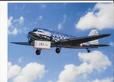 "DELTA AIR LINES DOUGLAS DC-3 #NC28341 SHIP 41 PRINT AND HISTORY 11"" X 8.5"""