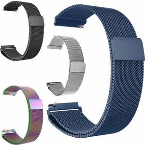 Cinturino 22mm MAGLIA MILANESE MAGNETICO ricambio bracciale polso MI8N