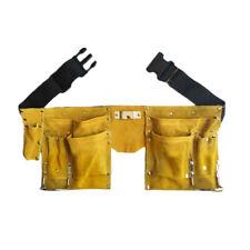 Carpenter Construction Work Apron Tool Storage Pouch Belt Leather Tool Belt