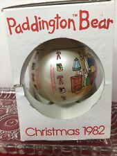Vintage Paddington Bear Christmas Ornament 1982 Schmid Night Before Christmas